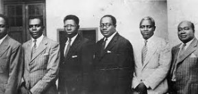 The Big Six- From Left: Kwame Nkrumah, Obetsebi Lamptey, Arko-Adjei, Akufo-Addo, JB Dankwa & William Ofori-Atta