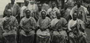 Photo Reporting- First cabinet of Kwame Nkrumah in 1957: Standing (L to R): J.H. Allassani, N.A. Welbeck, Kofi Asante Ofori-Atta, Ebenezer Ako-Adjei, J.E. Jantuah, Imoru Egala Sitting (L to R): A. Casely-Hayford, Kojo Botsio, Kwame Nkrumah, Komla Agbeli Gbedemah, & E.O. Asafu-Adjaye