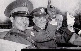Batista with U.S. Army Chief of staff Malin Craig in Washington, D.C., riding in an Armistice Day parade, 1938