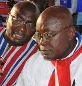 Photo Reporting: Dr Bawumia confers with Nana Addo