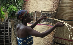 Photo Reporting- Ada Woman weaving a mat