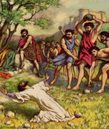 The Stoning Death of Stephen/Image: Public Domain Courtesy of breadsite.org.