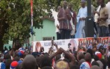 Dr Bawumia addressing crowds of supporters