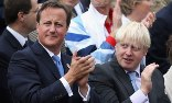 Boris Johnson and David Cameron. The mayor of London eclipsed the PM as the government's face of London 2012. Photograph: Dan Kitwood/Getty Images