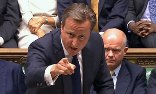 David Cameron speaks during the debate on military action against the Assad regime. Photograph: Pool/Reuters