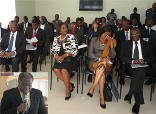 Members at the meeting. Inset: Ebo Barton Oduro, Deputy Attorney General delivering a speech at the forum