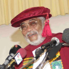 Photo Reporting: Ex-President J.J. Rawlings