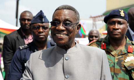 'Death has enabled John Atta Mills to hand over the headache of rehabilitating public amenities to the new president.' Photograph: Pius Utomi Ekpei/AFP/Getty Images