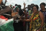 Crowd Welcome First Lady At Markets In Accra