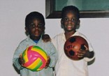 Super Mario is born: Balotelli (right) aged three years old