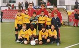 Sure start: Balotelli at nine (front row, second left)