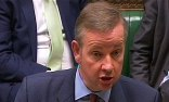 Education secretary Michael Gove announces the overhaul of GCSE exams in the Commons. Photograph: PA