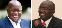 Photo Reporting: Nana Akufo-Addo(L) & Dr Bawumia