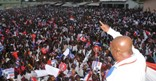 Nana Akufo-Addo addressing the crowd at Mankessim