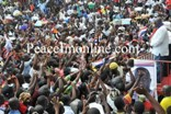 Nana Addo addresses the crowd during his