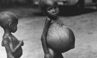 The bloated bellies of these Biafran children, pictured in 1968, show the effects of starvation in the three-year conflict. Photograph: AP Photo/Church World Service/AP