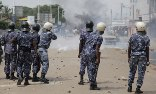 Women in Togo have called a sex strike to press men to resist the president. On Tuesday, police used teargas to disperse demonstrators. Photograph: Erick Kaglan/AP