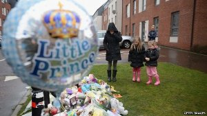 Soft toys and flowers were left outside his home in Edinburgh
