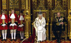 The Queen outlines the government's plans for the next parliamentary session