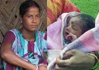Gauri Shah and the new newborn baby sold for just £130 becuase his mum is too poor to keep him after her husband left her eight months ago.